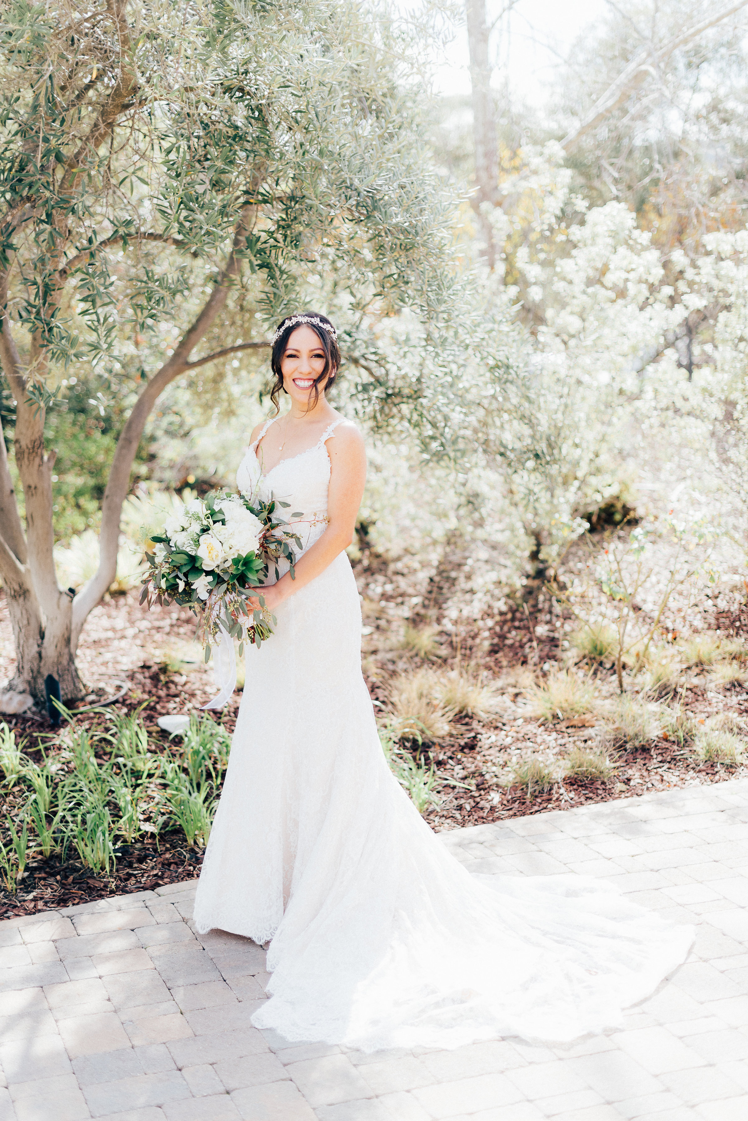 Beautiful bride after her Thousand Oaks Wedding