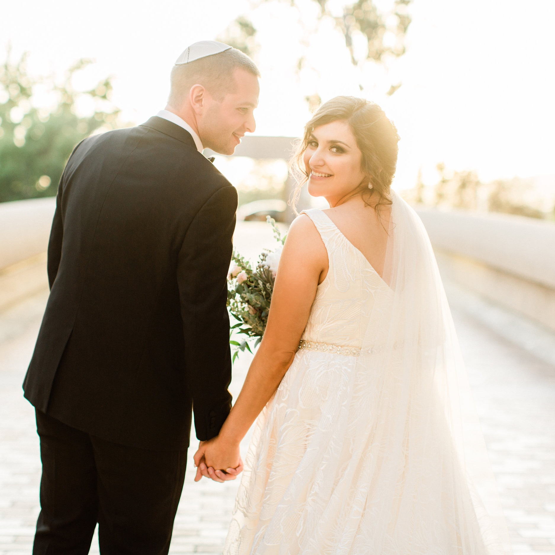 Romantic Jewish Wedding at Noor Pasadena  - southern california bride
