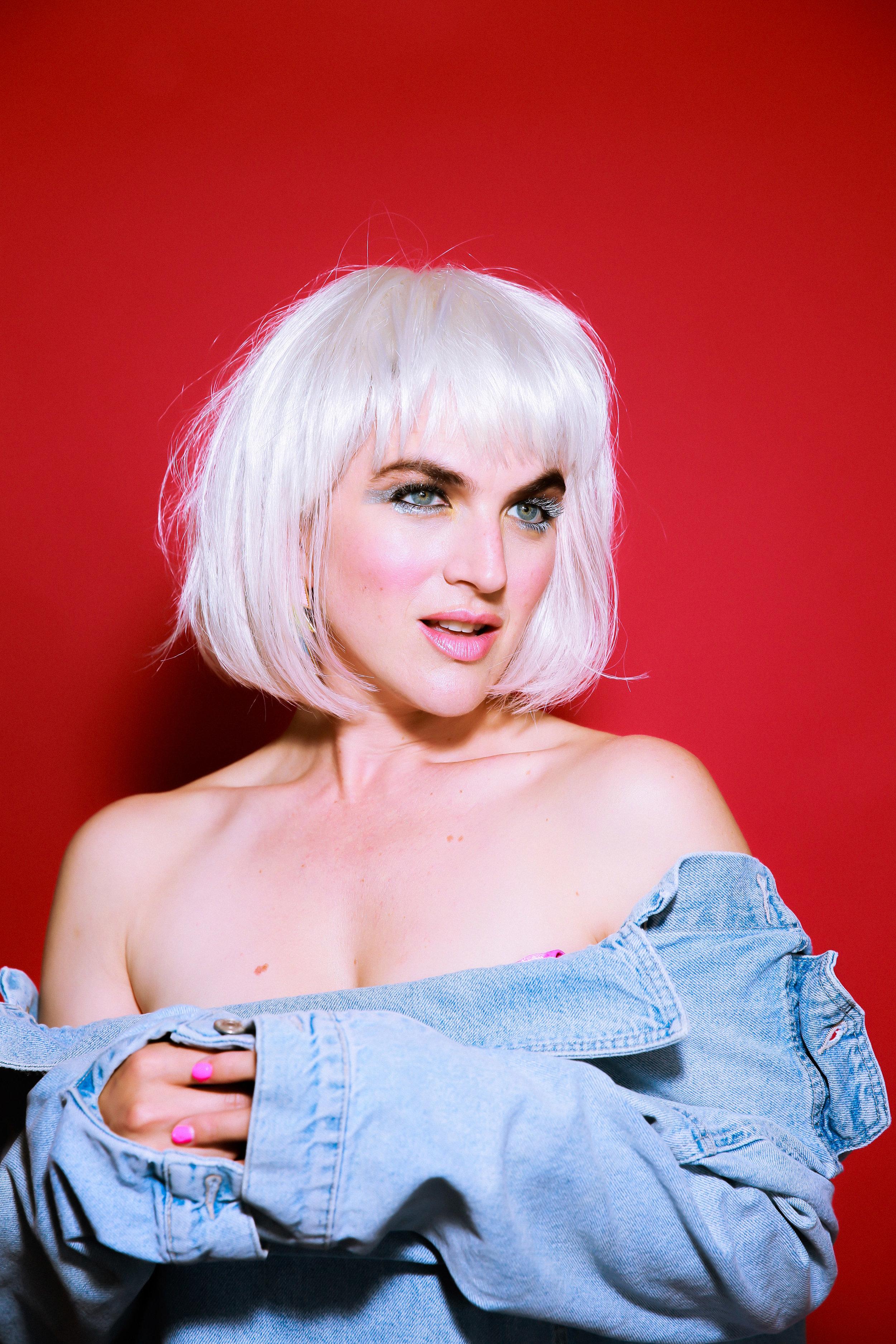 makeup for single cover art of LA pop artist