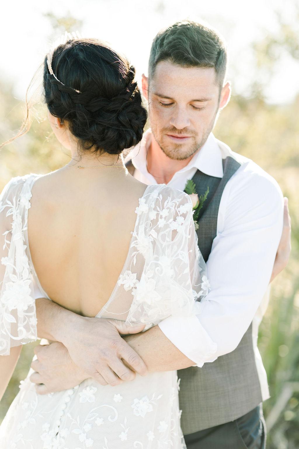 Wedding portraits for a Joshua Tree elopement