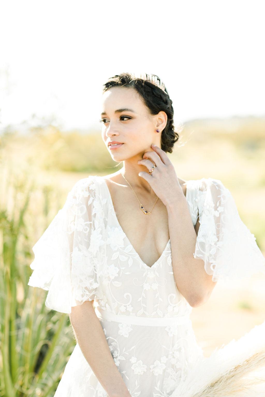 LA bride during her wedding