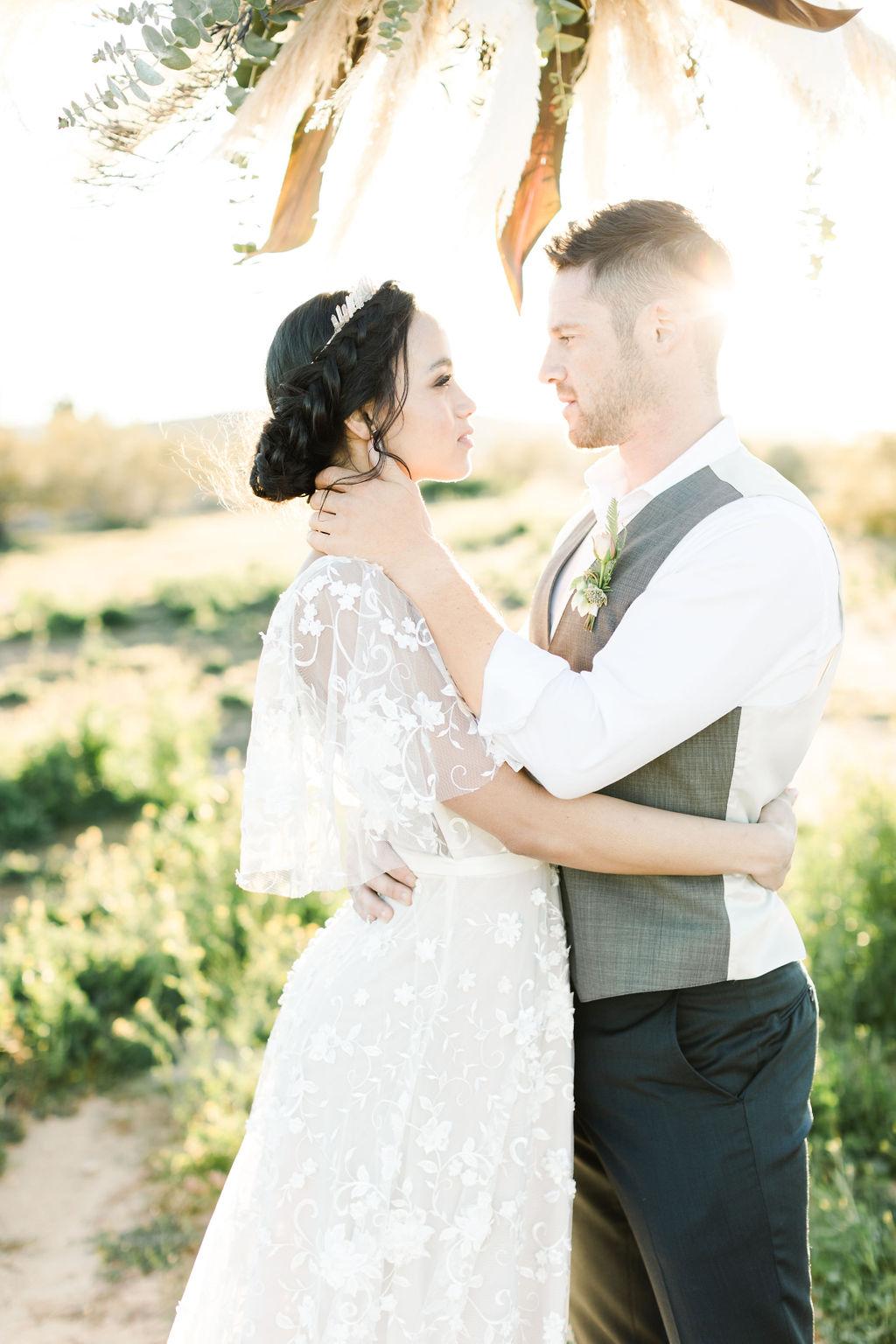 braided updo for LA wedding