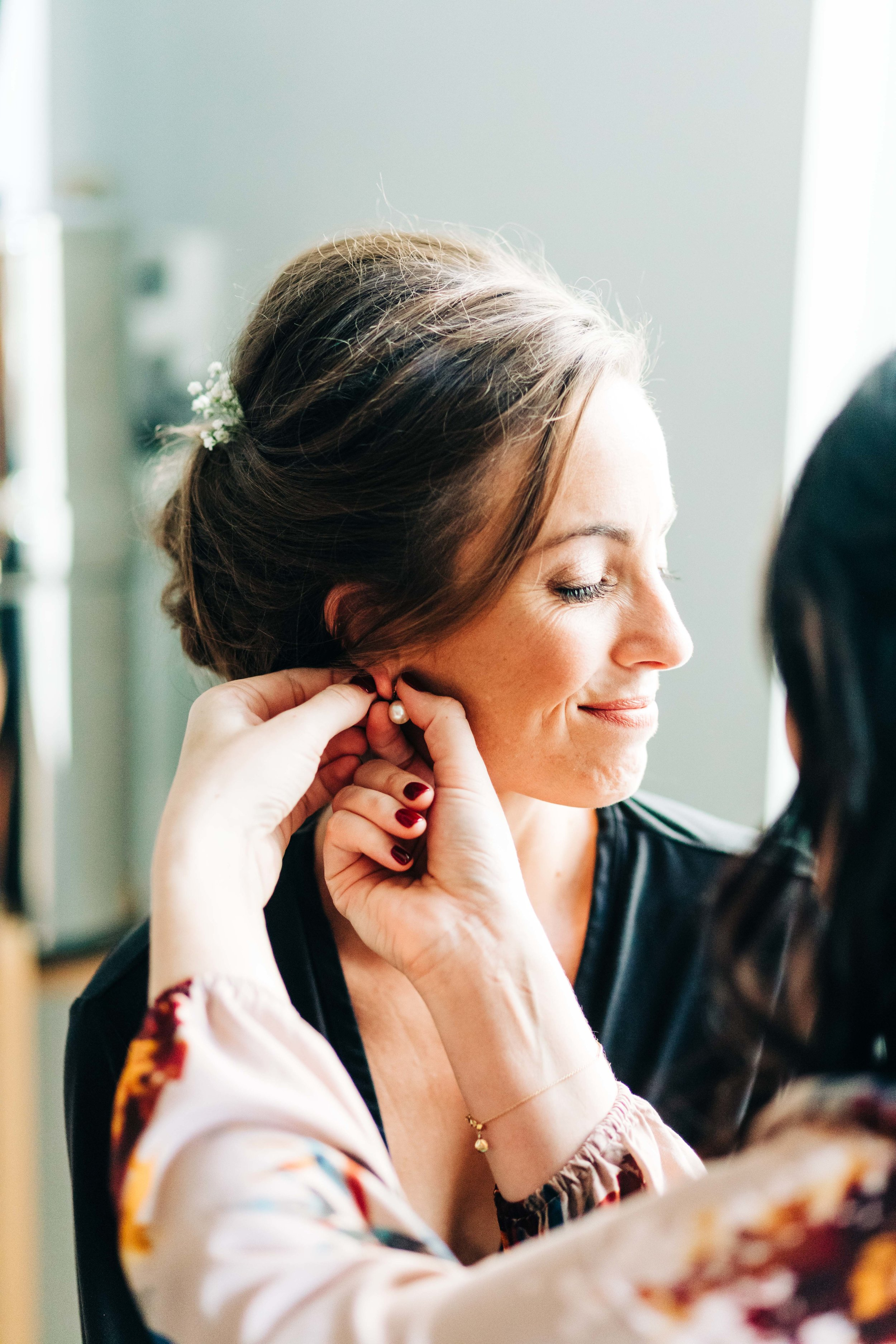 LA Wedding glam and airbrush makeup for this beautiful bride