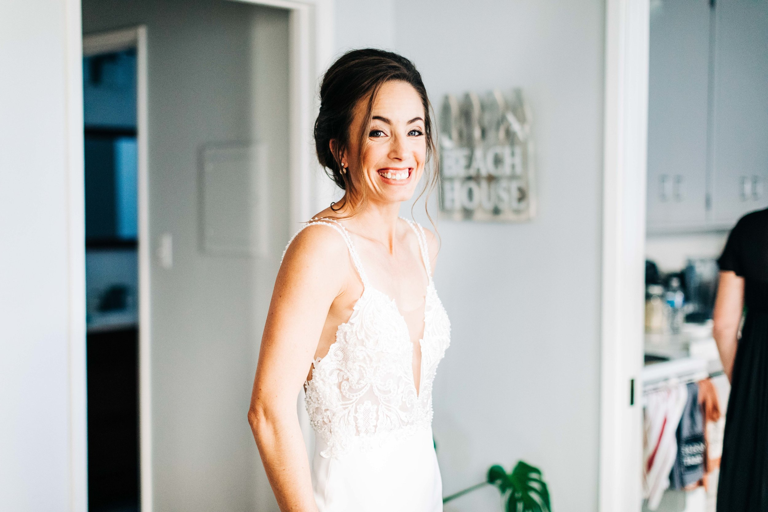 Airbrush makeup for a long beach brides wedding day