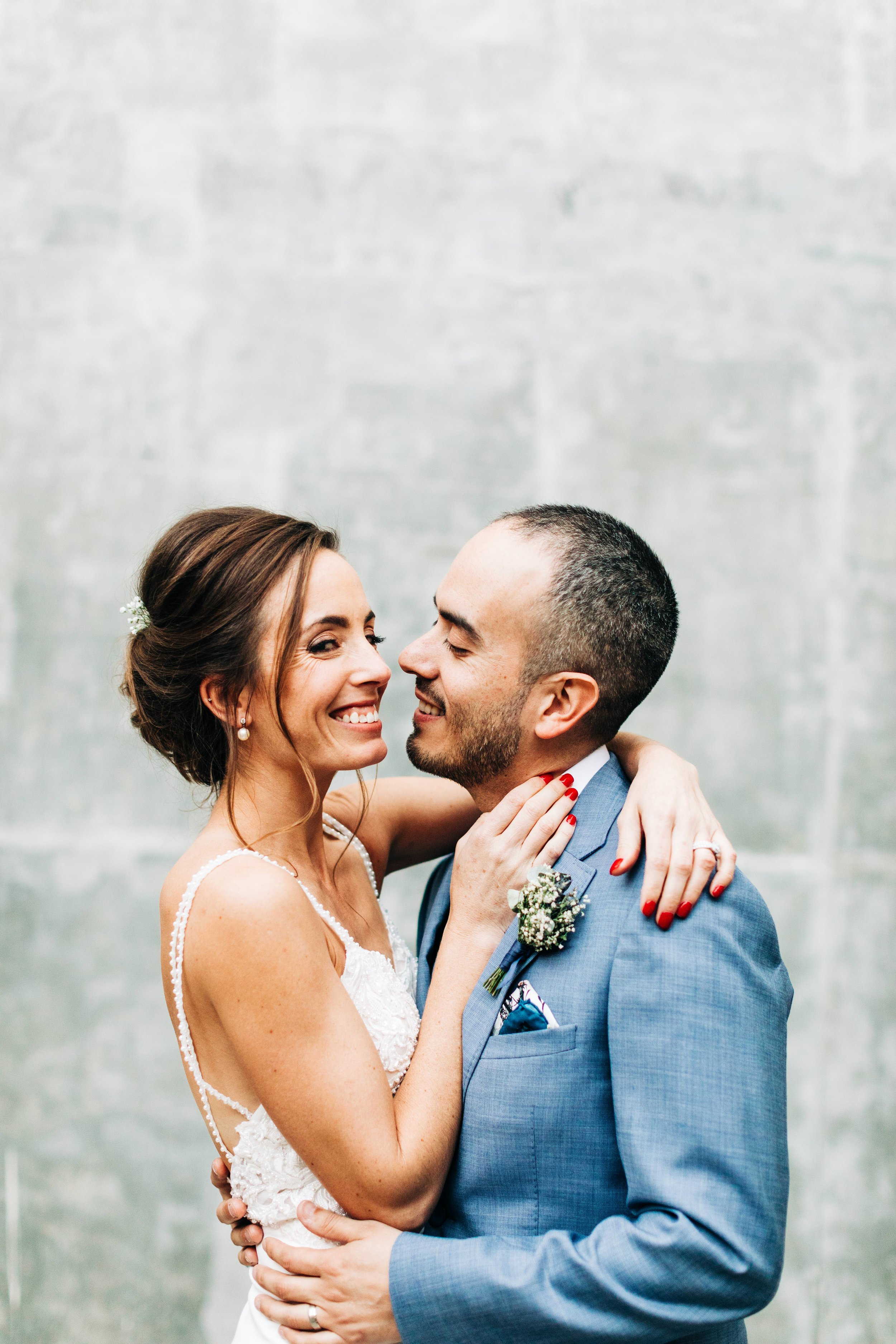 Long Beach bride and groom get married at Howl