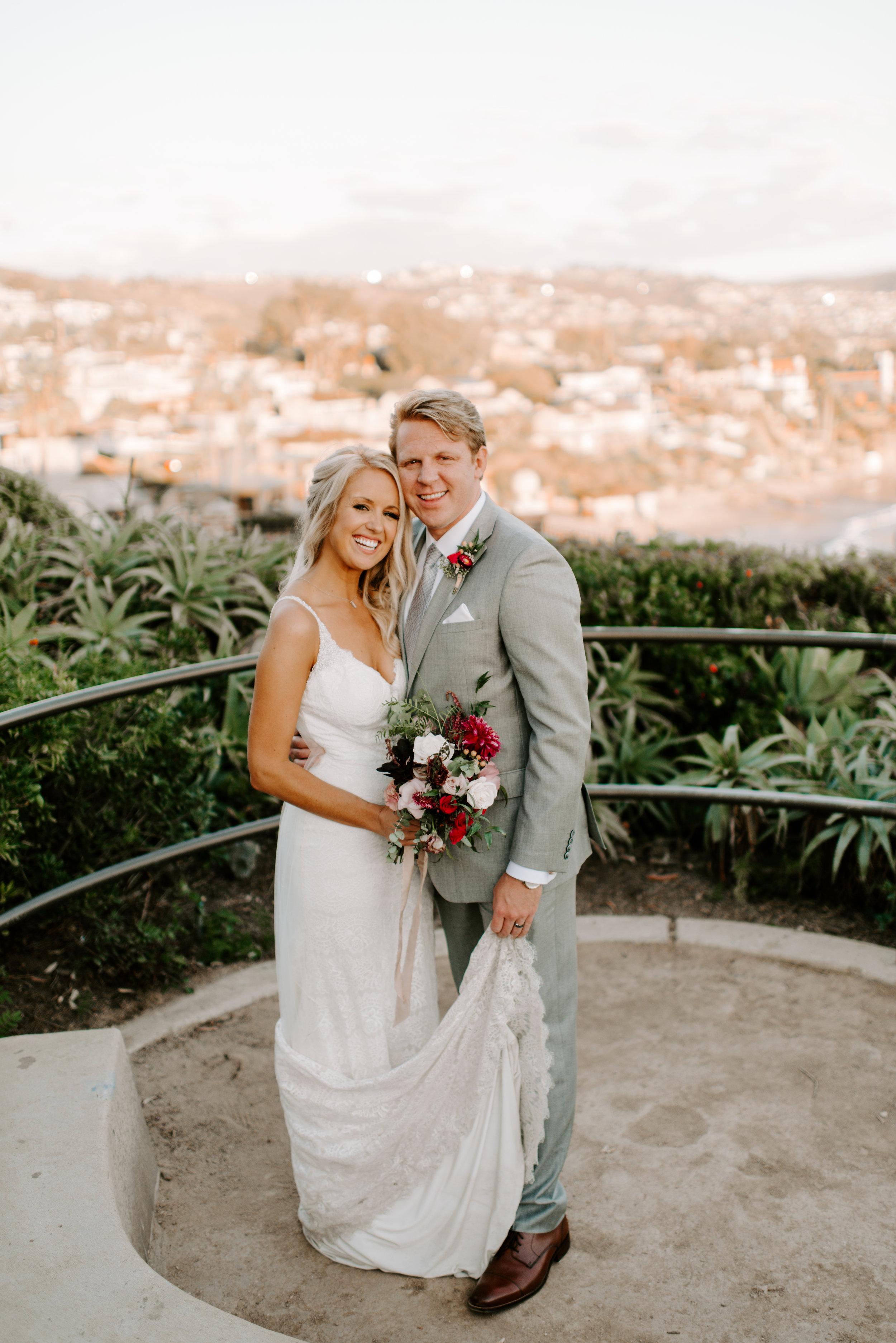 West coast wedding for an LA bride