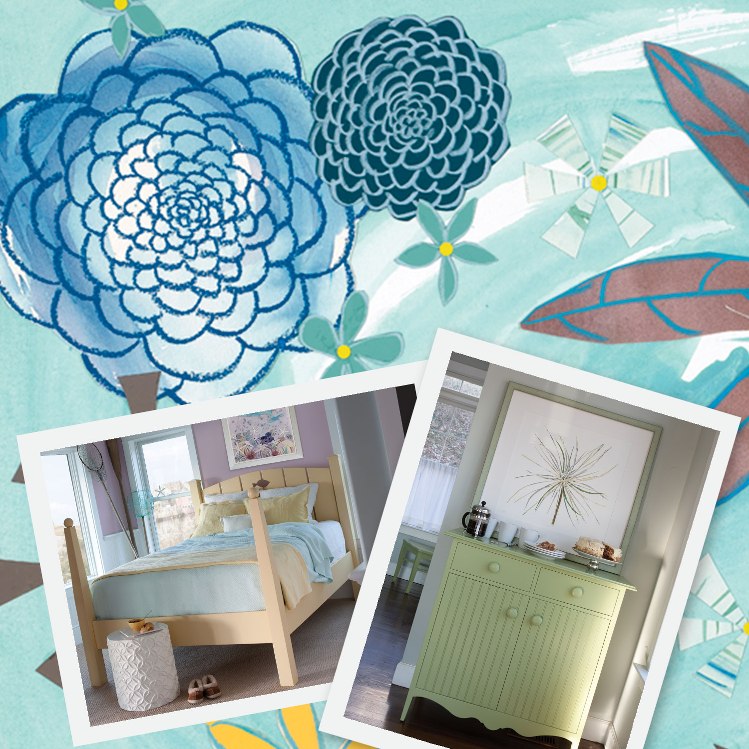 Liz Lind for MAINE COTTAGE® - When the Creative Director of Maine Cottage® — Lauren Russell — approached Liz about creating a collection that would compliment their colorful coastal furniture — how could she resist. Visit mainecottage.com to see how Liz's prints compliment the colorful furniture and vibrant fabrics that Maine Cottage® is known for.