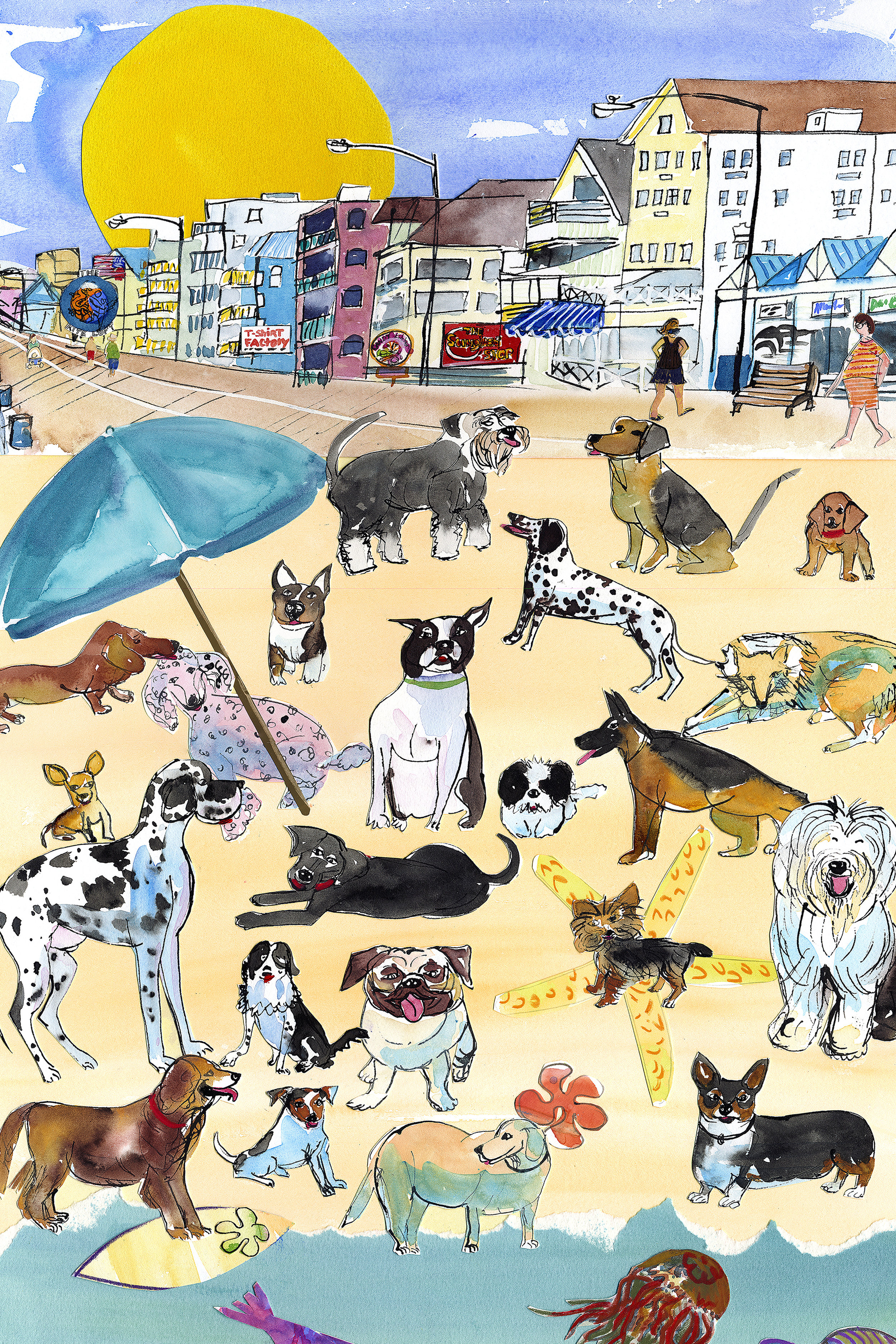 Dogs At The Beach - Buy This