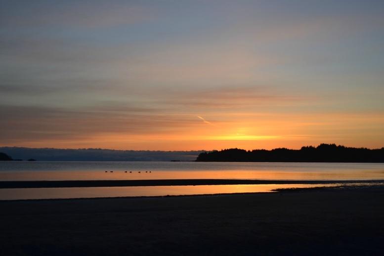 Sunrise at Storey's Beach.