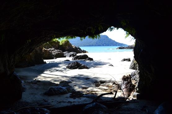 A sea cave at San Josef Bay.