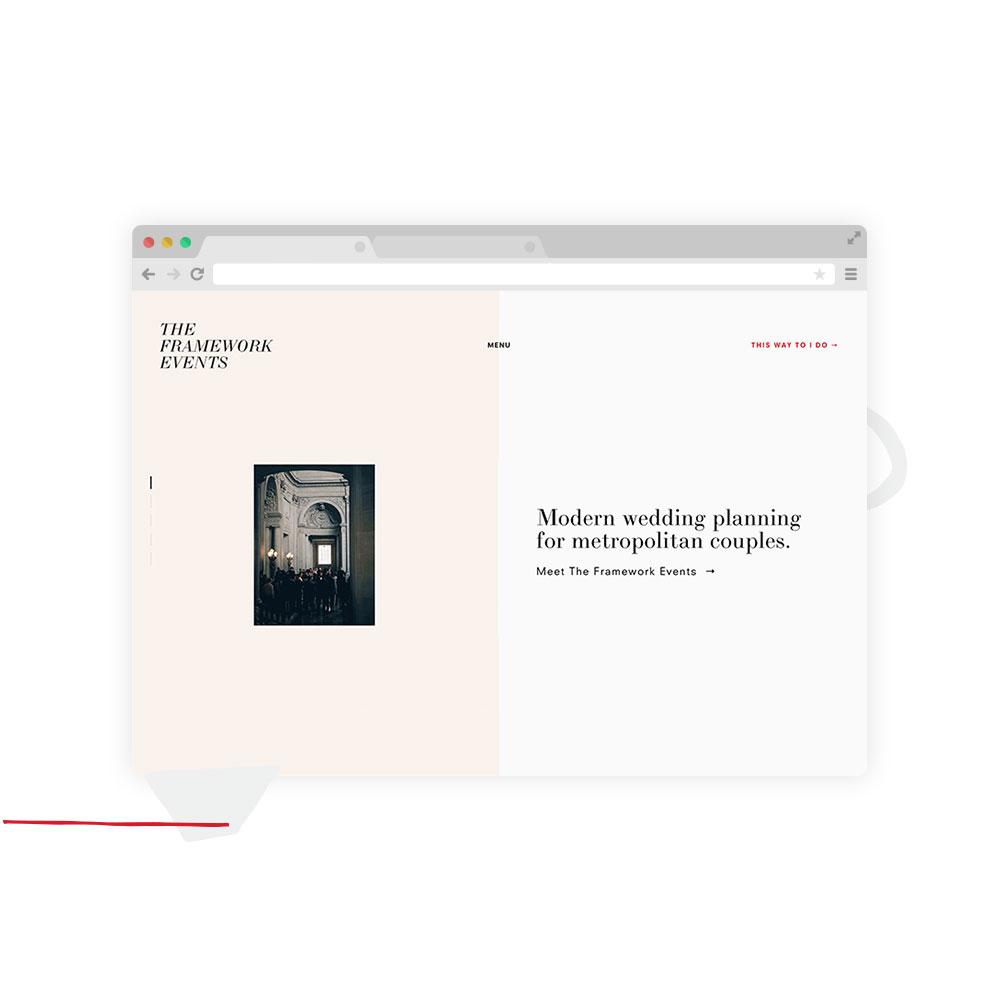 The Framework Events –Squarespace Website Design