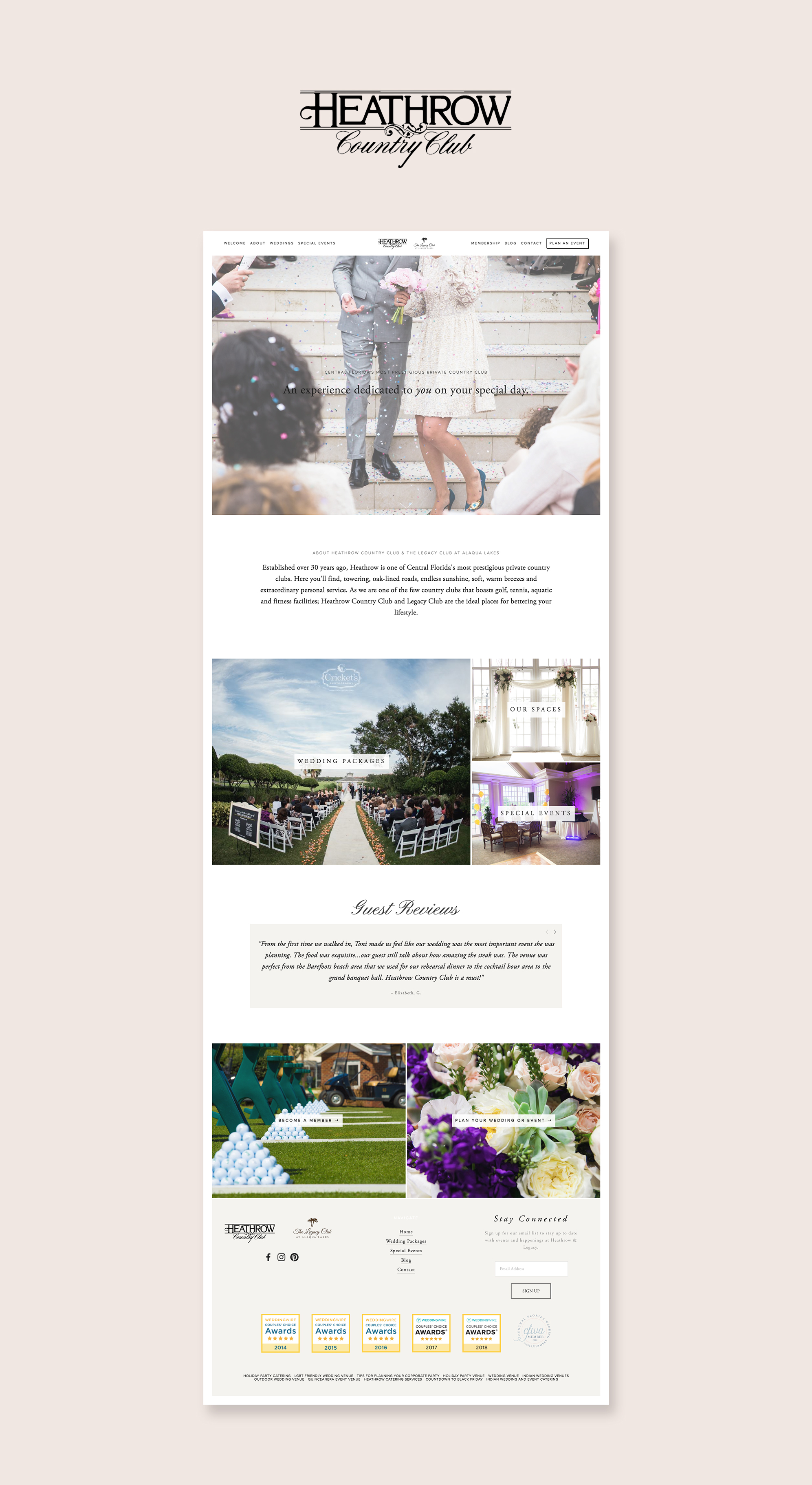 Squarespace Website Design Services - Heathrow Country Club