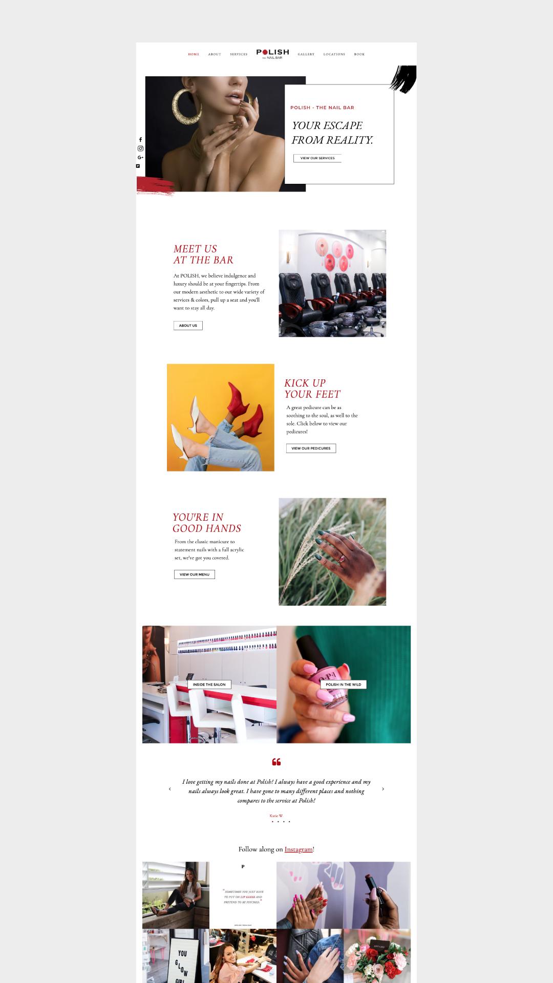 Squarespace Website Design Services – POLISH The Nail Bar