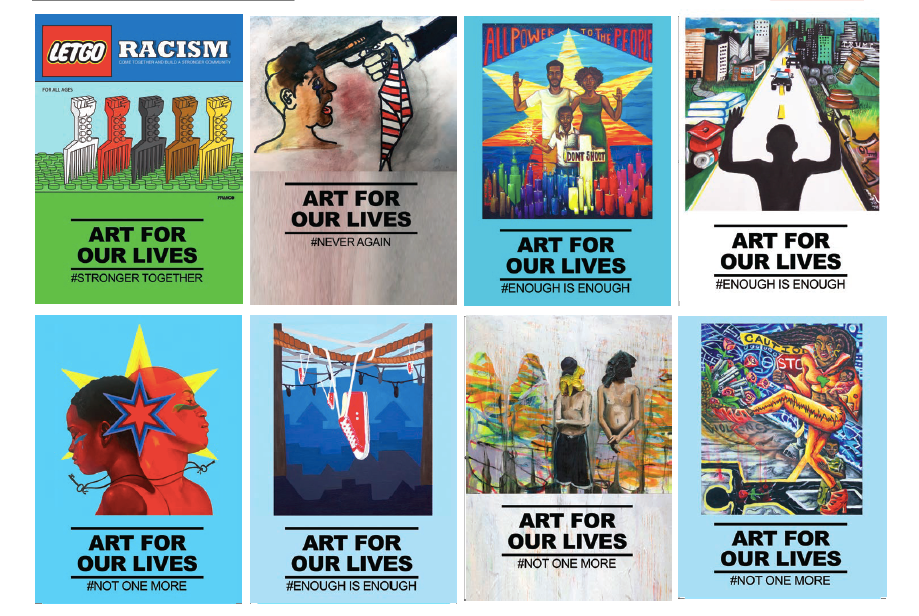 Poster designs created by NYAM youth.