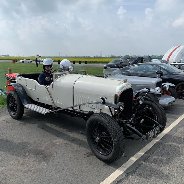 Today we welcome back our good friend @mrguysmith7 who is on track in a mixture of cars. He won Le Mans in 2003 for Bentley but today he is behind the wheel of a much older Bentley. This one was built in 1925!! #blytonpark #bentley #vintagebentley #funontrack