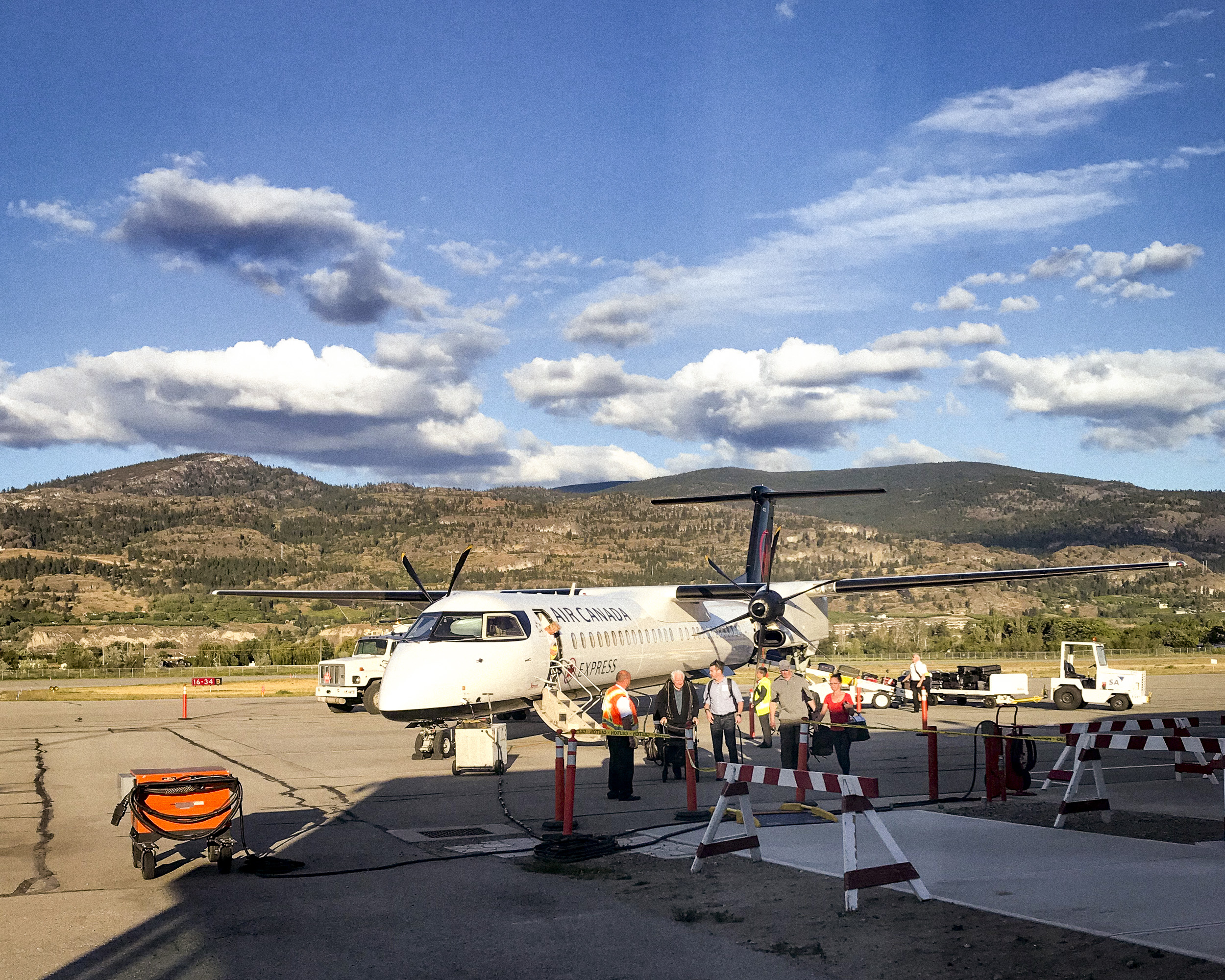 I took this propeller plane from Vancouver to Penticton. Flying in between the mountains, as opposed to over them. was a new and unique experience.