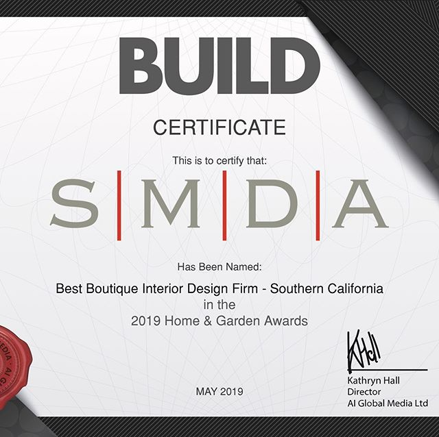 Wow!!! More fantastic news!!! Honored to be named Best Boutique Interior Design Firm - Southern California by Build Magazine. • • • • • • • #orangecounty #losangeles #lagunabeach #crystalcove #newportcoast #beverlyhills #brentwood #malibu #belair #restaurantdesign #bardesign #customhome #dreamhome #designer #hoteldesign #interiordesigner #architecture #luxurystyle #designisinthedetails #designerlife #interiordecoration #mansion #interiordecorator #luxuryhomes #interiors #residentialdesign #designinspo #hotellife