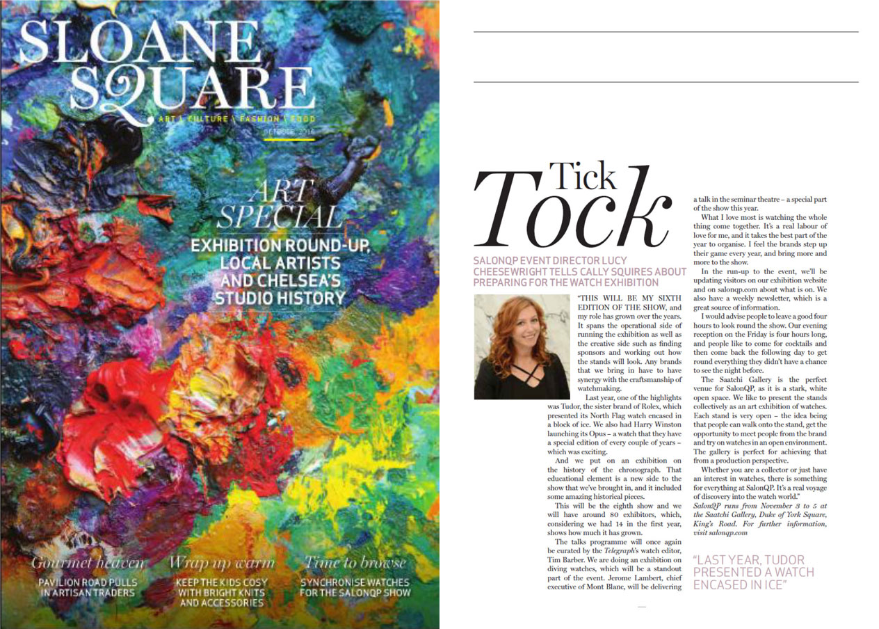 Featured in Sloane Square Magazine October 2016