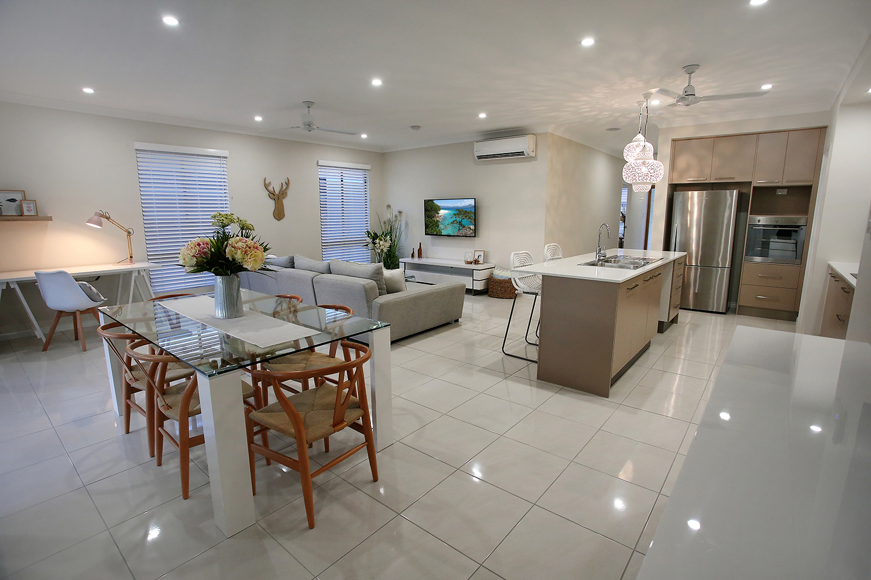 North Shore Display Home   Floor - Metropolis White Gloss 450x450