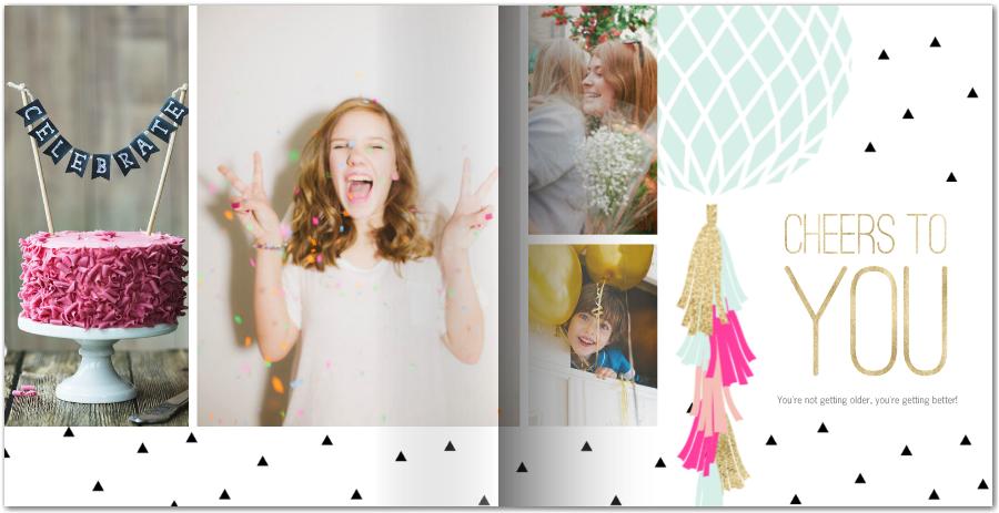 Mod Birthday Photo Book
