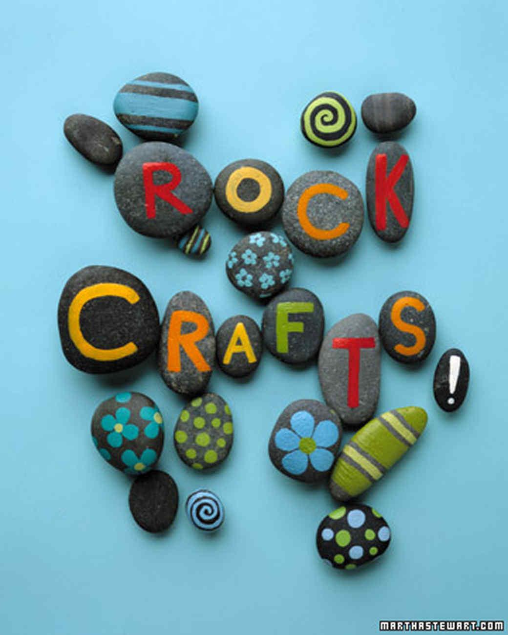 Via Martha Stewart's Rock Crafts