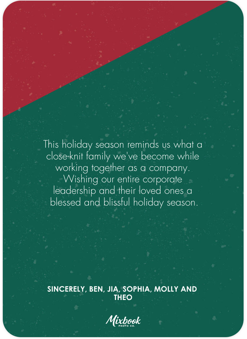15 Best Holiday Card Messages For Employees Mixbook Inspiration