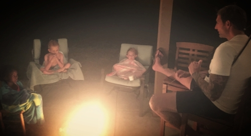 Fireside scary stories.