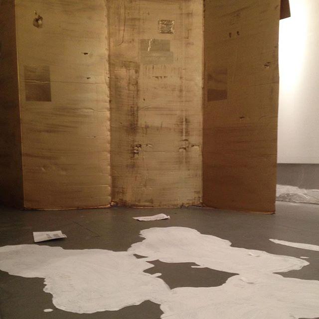 """It's like a gangster Richard Serra."" OPENING APRIL 16 5:30-9:30 PM  #richardserra #fuckscape ##nyc #JerseyCity #contemporaryart #artshow"