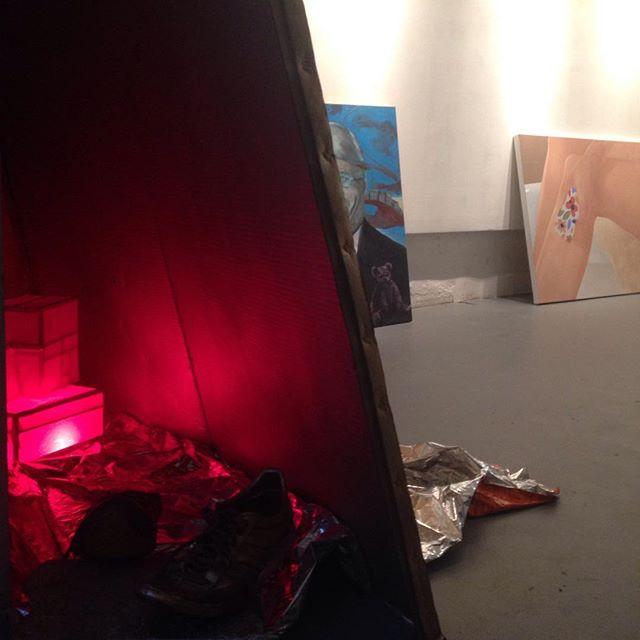 #fuckscape #wip #opening #saturday #jerseycity #nyc #artshow #contemporaryart #oiloainting #installation #sculpture #dickcheney #legs