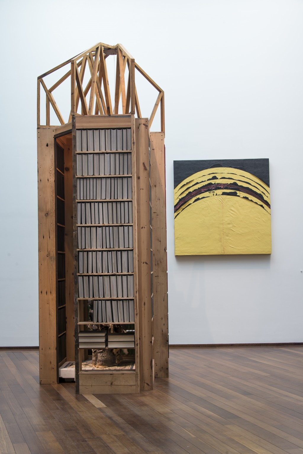 """""""New Egypt Sanctuary of the Holy Word and Image and 12 Suns with Sunset."""" (Image courtesy Theaster Gates, White Cube and Regen Projects/National Gallery of Art)"""
