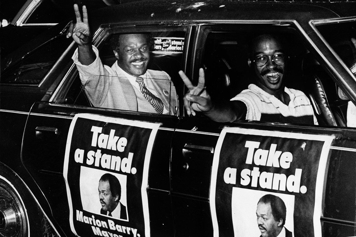 Marion Barry's first mayoral run, 1978. Photograph by James A. Parcell/ Washington Post /Getty Images.