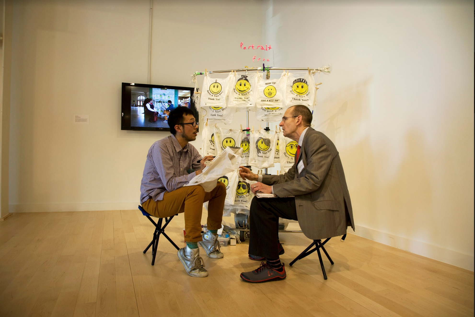 """Invited:Celebration Station "" George Ciscle with featured artist Nobutaka Aozaki, Curatorial Practice MFA Practicum at MICA's Riggs Gallery, 2012"
