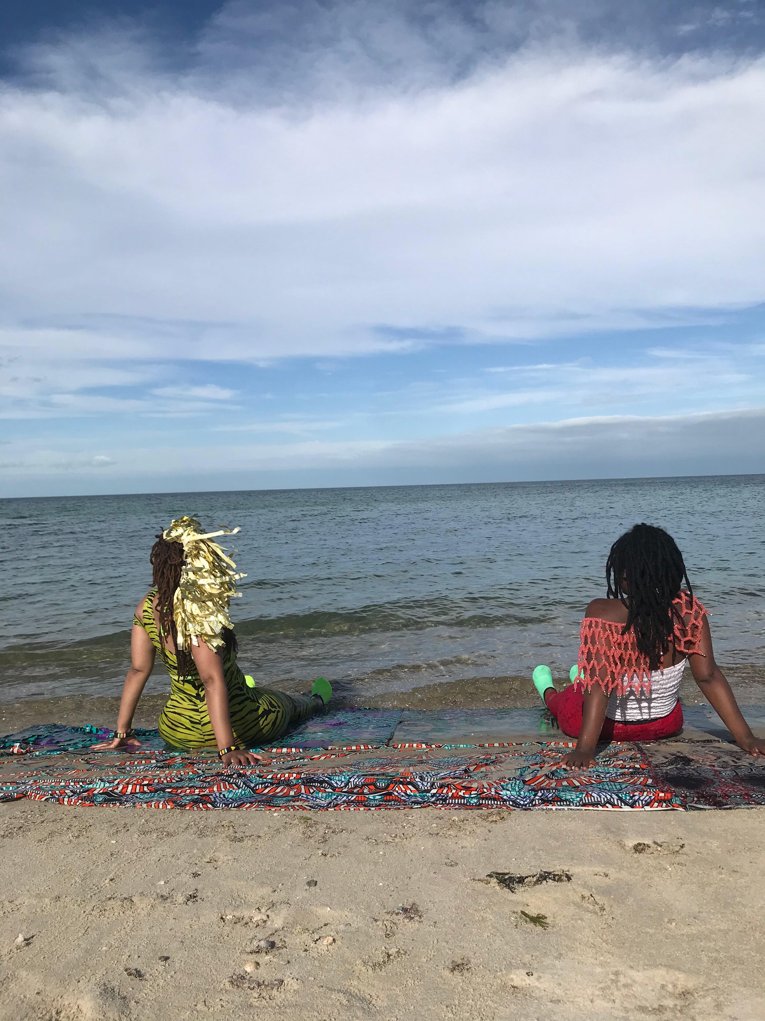 Evans and Makonnen on Inkwell Beach