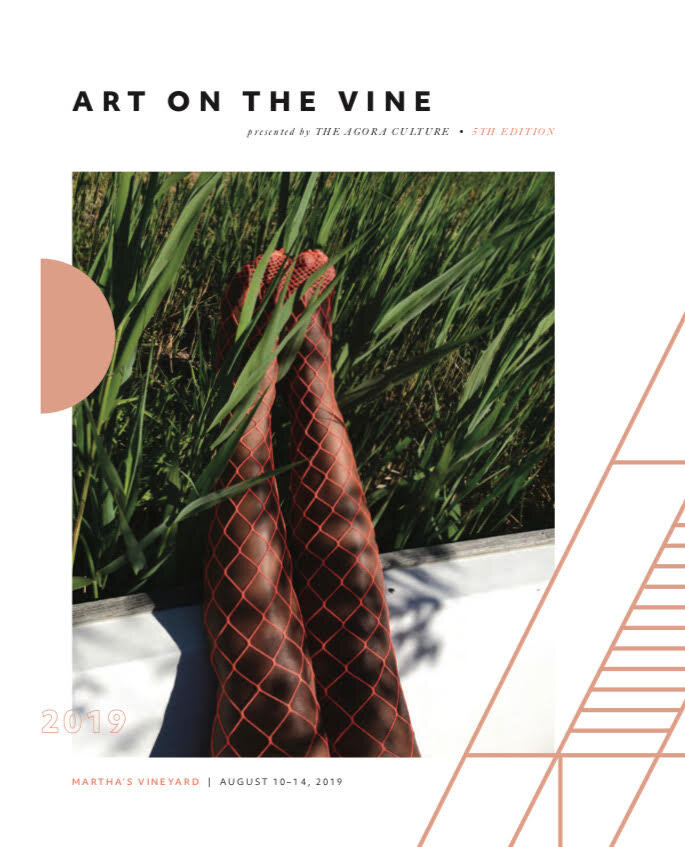 Front Cover of  Art On the Vine  2019 catalogue