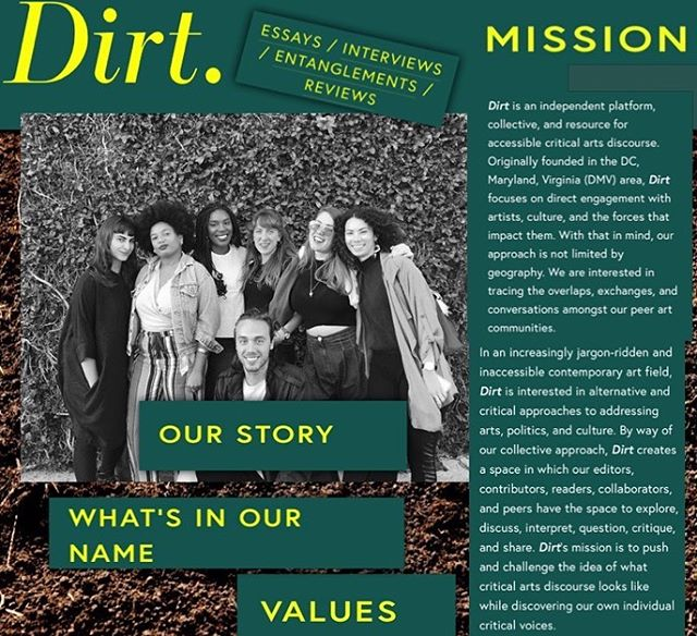 ~Notice anything different?~ Scroll through or check out our website to see our newly updated mission statement, value system, origin story, AND MORE! . . Have questions, comments or general feedback?! Drop us a line at youvegotdirt@gmail.com - we would love to hear from you! . . #youvegotdirt #dirtinthefield #artspublication #artswriting