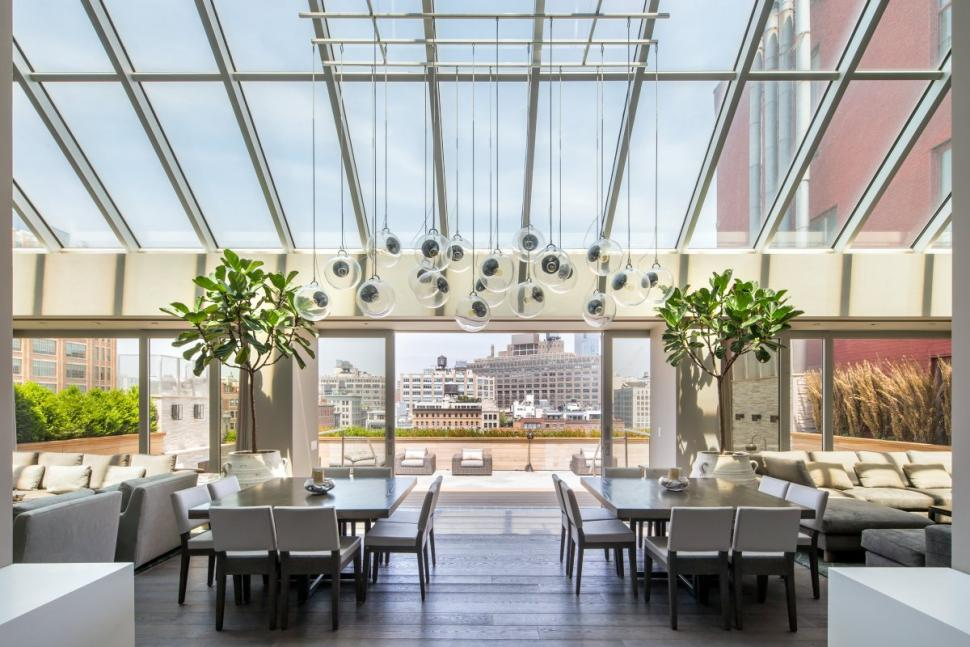 Merchant House - Tribeca Penthouse   Shown: Upholstered Nolita Chair, Arte Dining Table