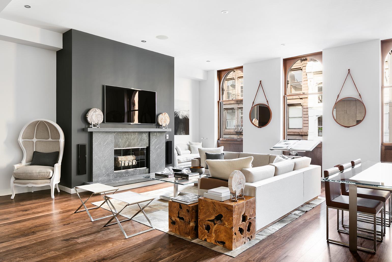 Rosner Residence, Mercer Street   Shown: Madison Sectional, Empire Table, Suffolk Chair