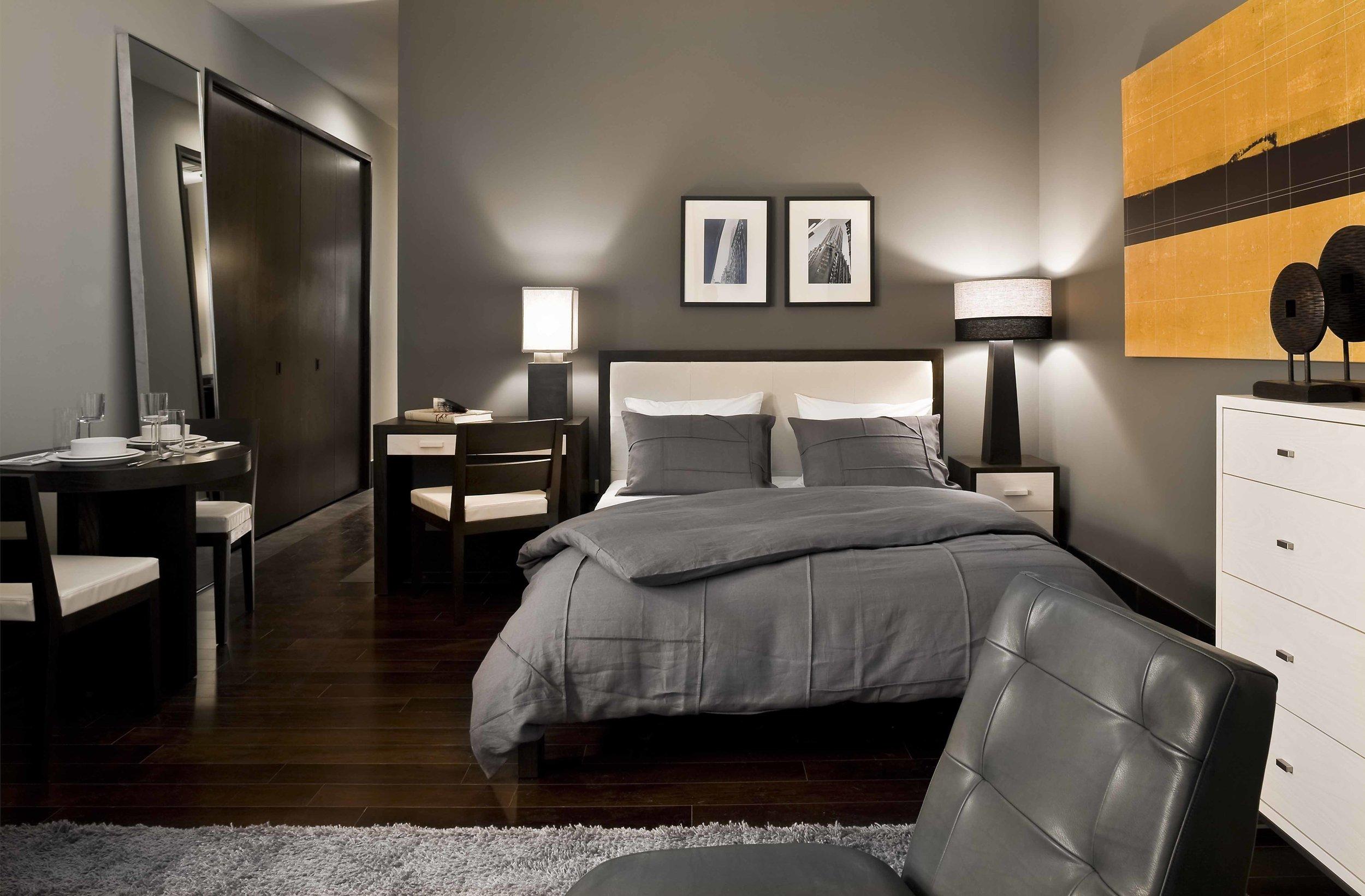 Chelsea Bed ,  Mercer Console ,  Nolita Chair ,  Arte 5 Drawer Dresser