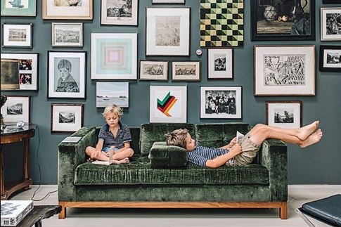 Gray Organschi Architecture - CT Home   Shown: Hudson Sofa