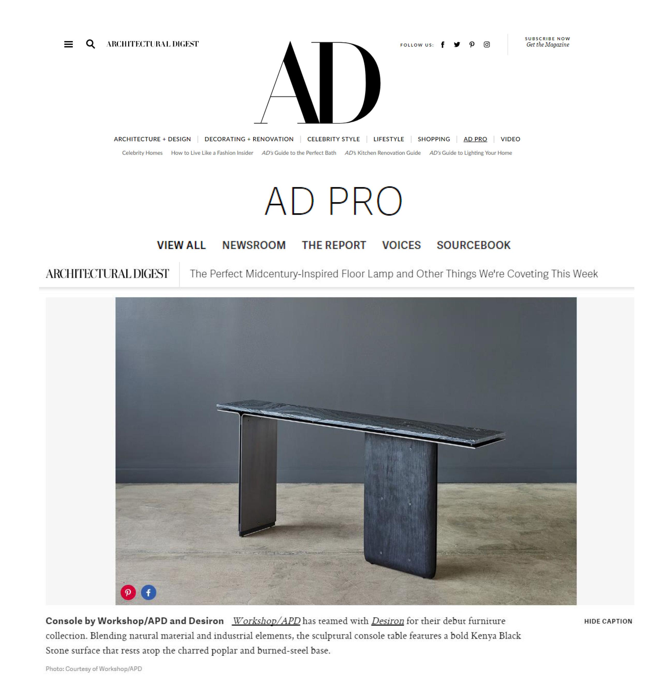 Architectural Digest Online (June 2017)