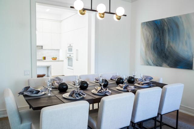 Amy Kaiikow  Shown: Fulton Dining Table