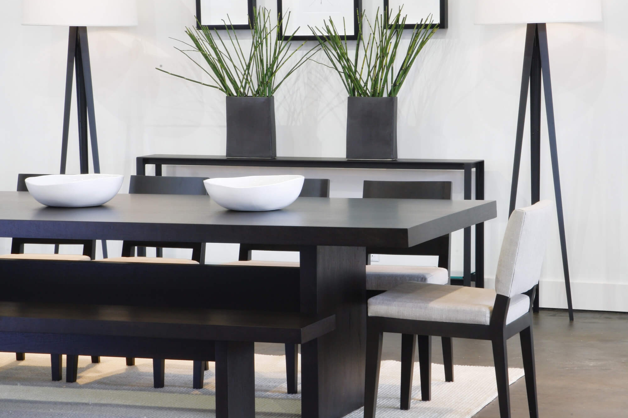 Home Stratosphere  Shown: Madison Dining Table, Madison Chair, Bowery Console