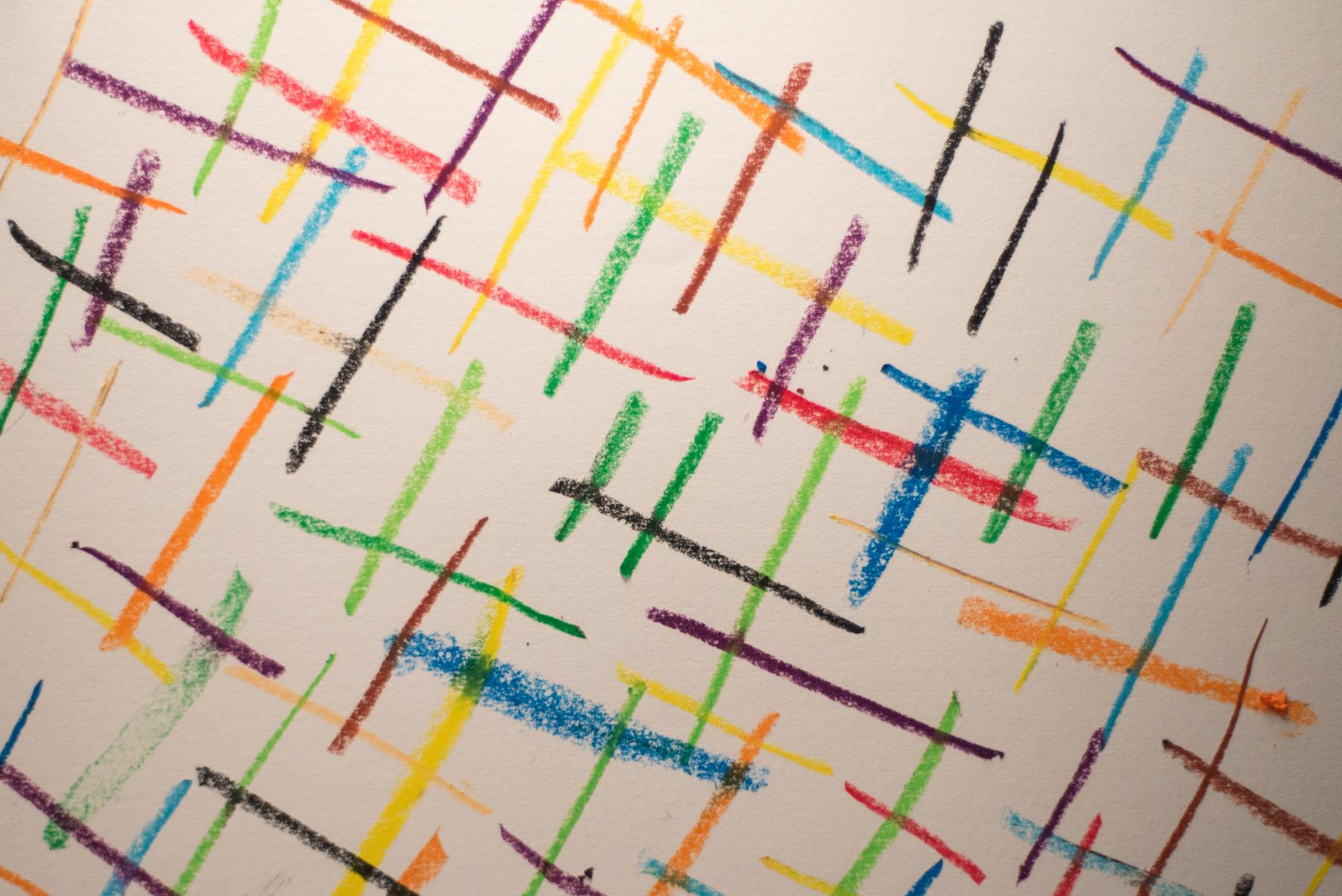 Linear pattern.