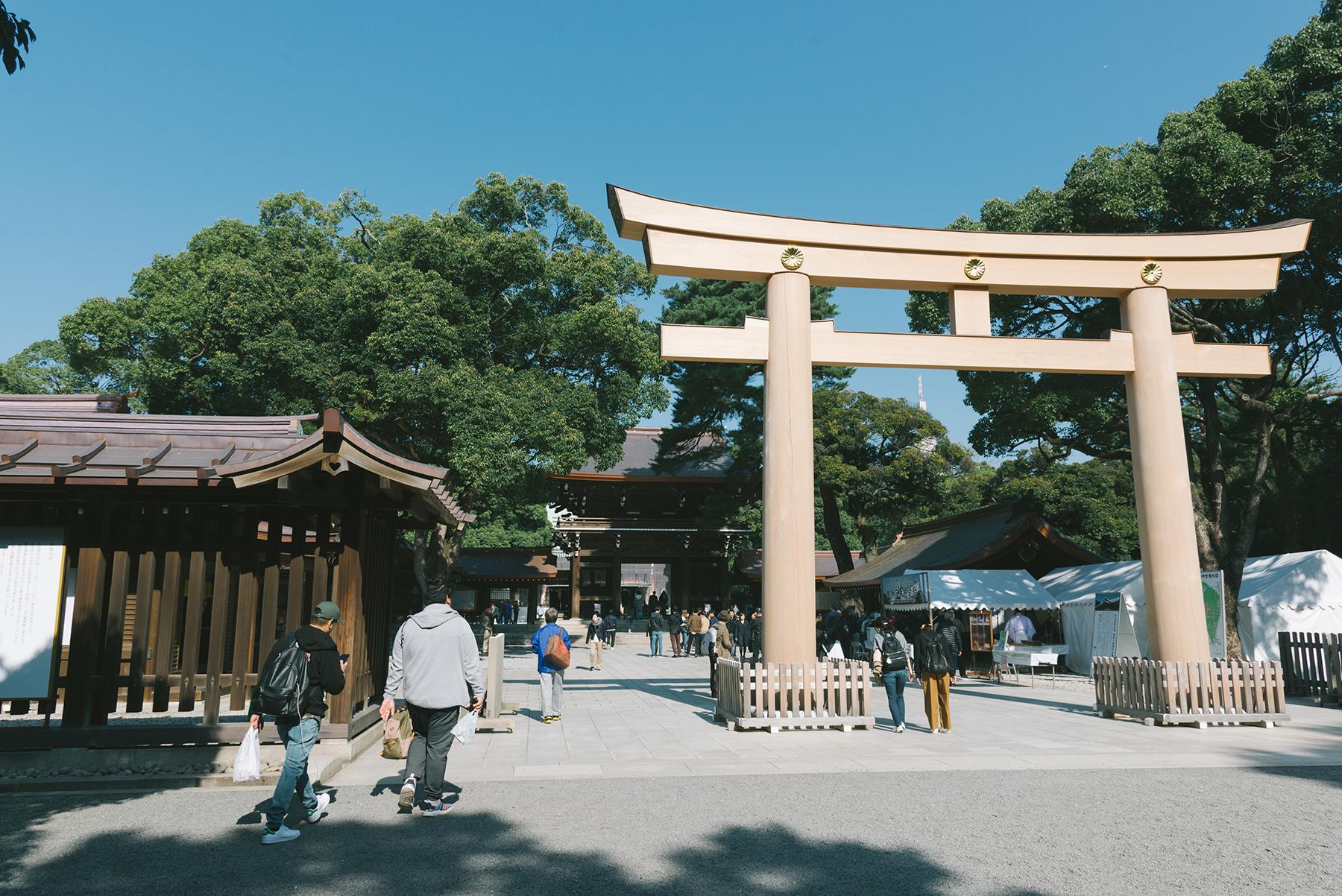 The Meiji shrine was being restored.