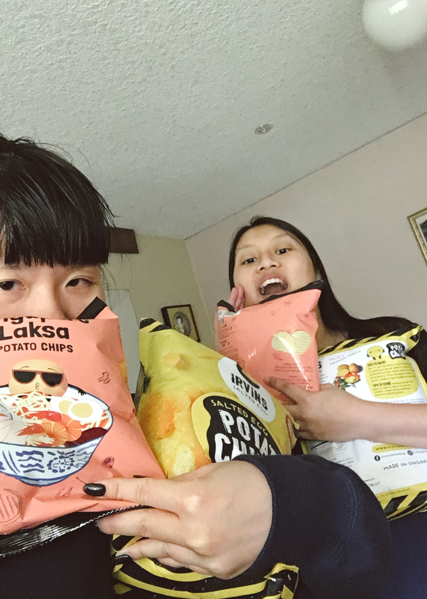 Arrived and received chips from Anna, all the way from Singapore!
