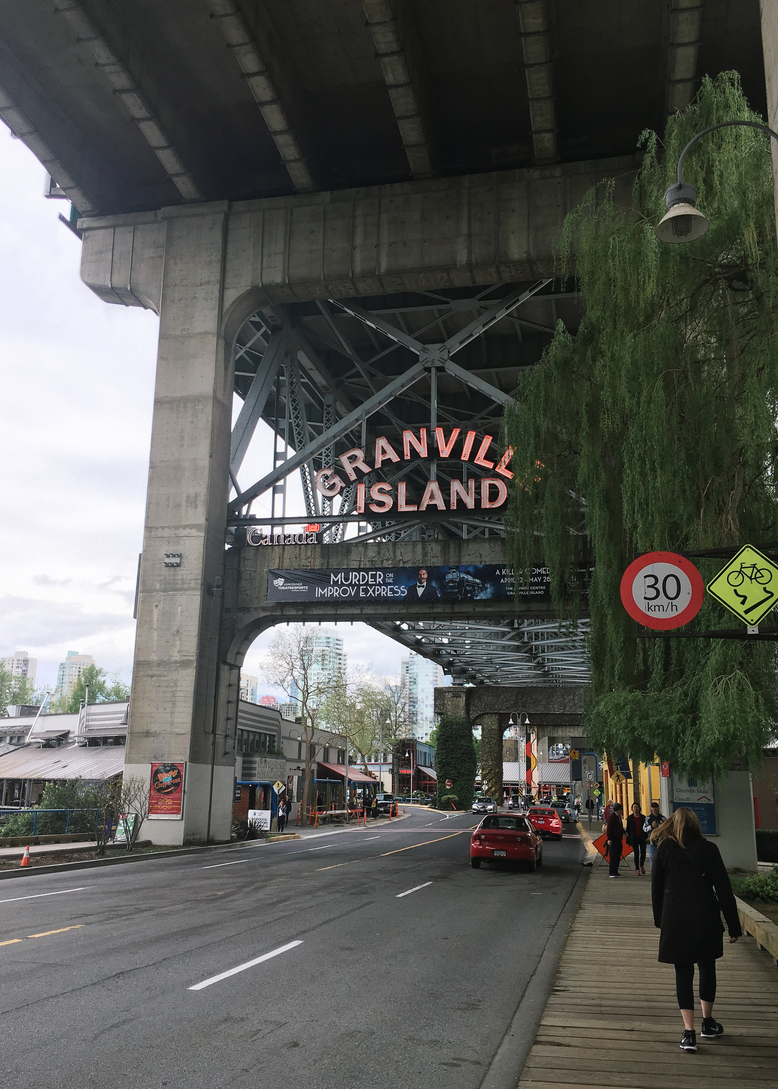 Gab then took me to Granville Island, which isn't exactly an island.
