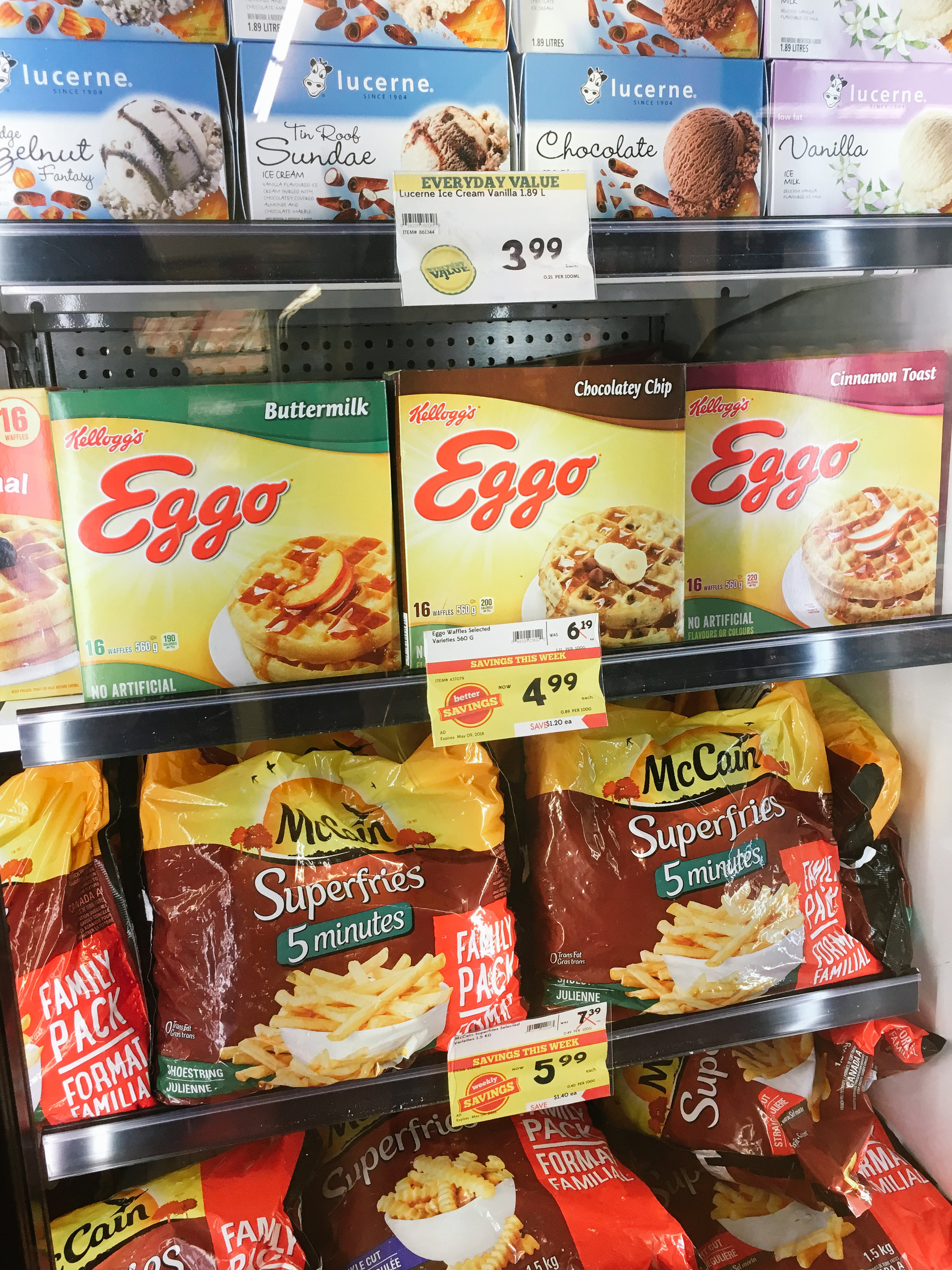 Eggos! Was very tempted to purchase.