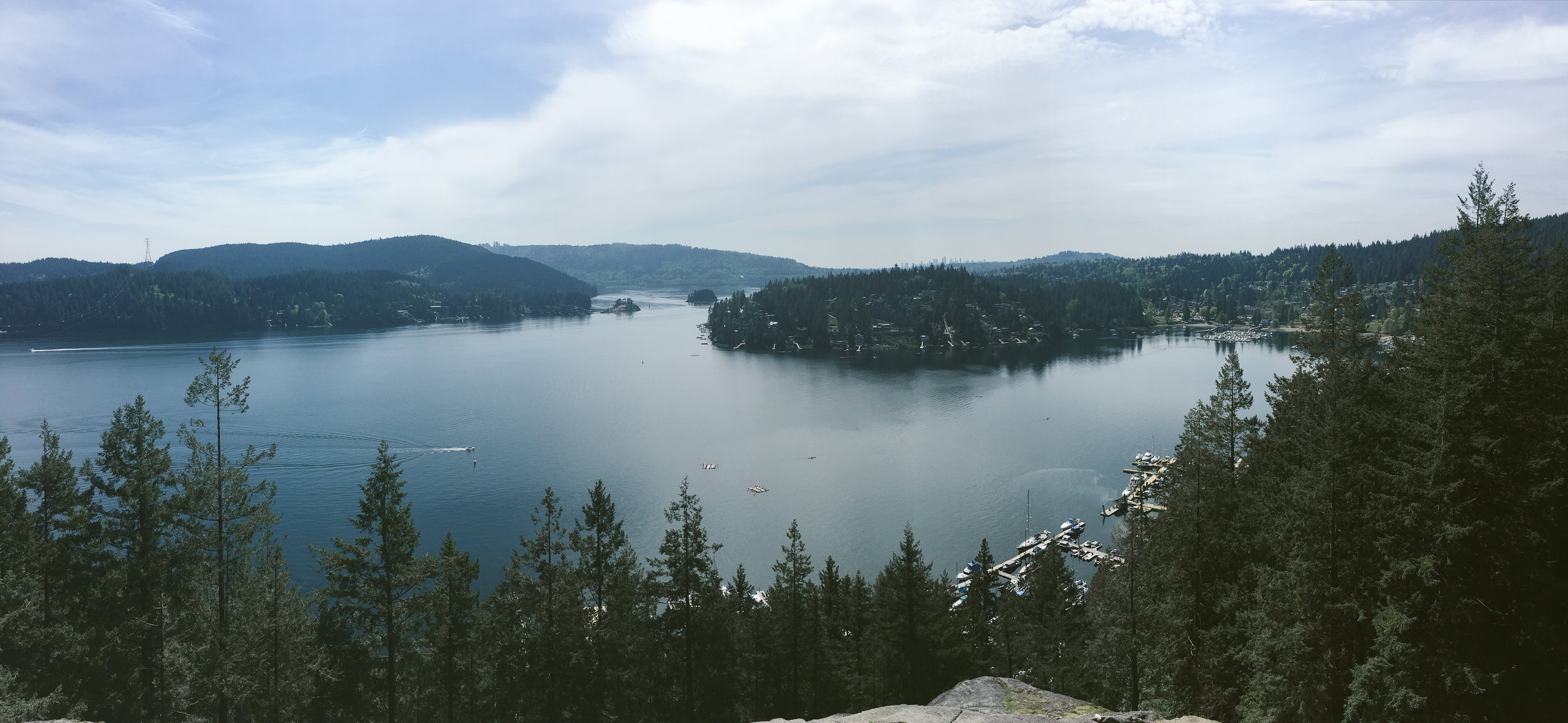 The view from Quarry Rock in Deep Cove.