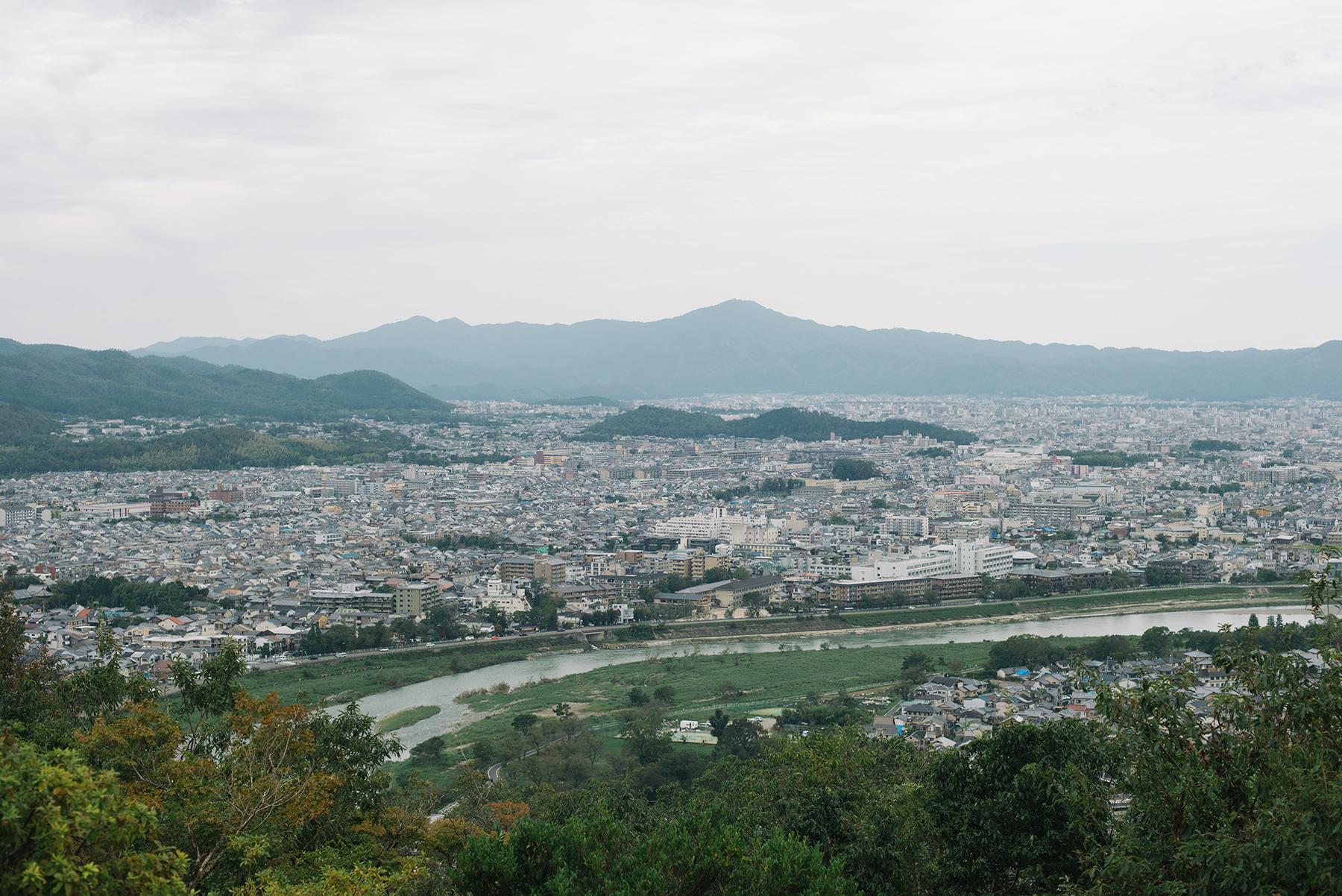 Arashiyama from the monkey park