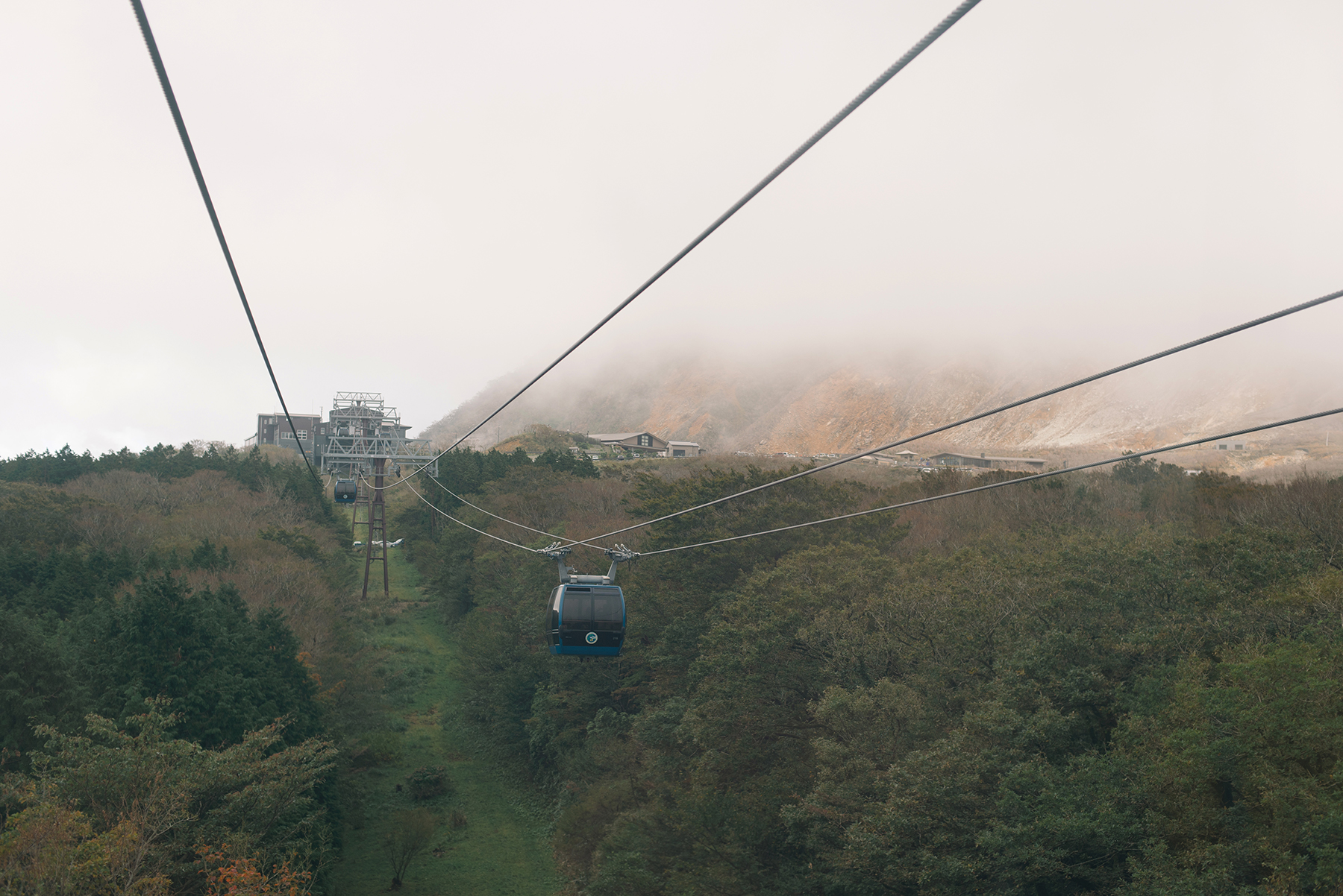 Took the ropeway down.